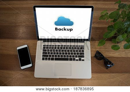 Backup Download Copies Of Data, Computing Digital Data Transferring