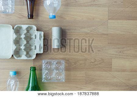 Recyclable Garbage Consisting  Glass Savings Plastic Plastic Environment Reduce Junk
