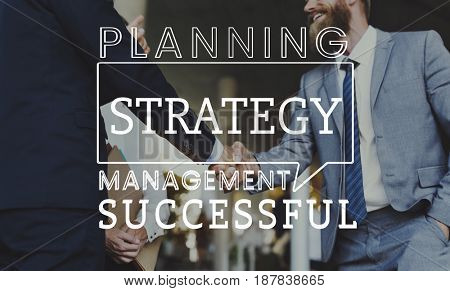 Business Marketing Plan Development Strategy Graphic