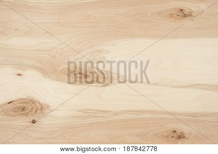 Light beige plywood vintage wood texture. Top view wooden board.