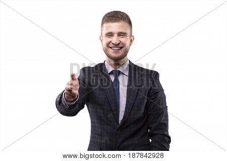 Charismatic Man Aiming The Camera