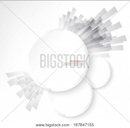 white circle. Ray and explosion. design web illustration