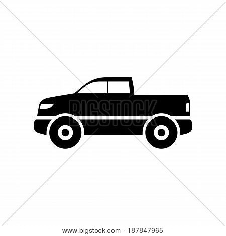 Pickup car icon simple flat vector illustration.
