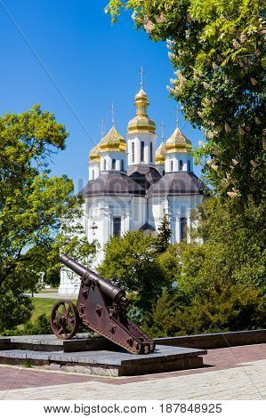 Catherines Church (early 18th century) in the city of Chernihiv Ukraine