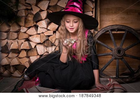 Cute Little Girl Witch