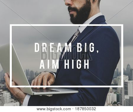 Businessman High Big Dream