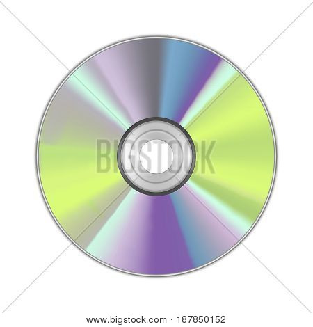 Realistic Detailed Round CD Disk Data Technology for Music, Information and Software. Vector illustration