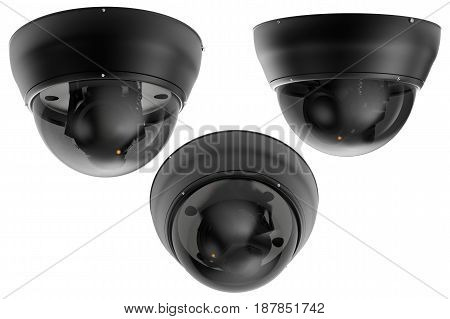 3D Rendering Security Camera Or Cctv Camera