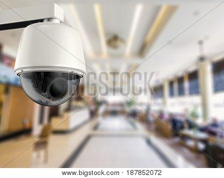 3d rendering security camera or cctv camera in hotel