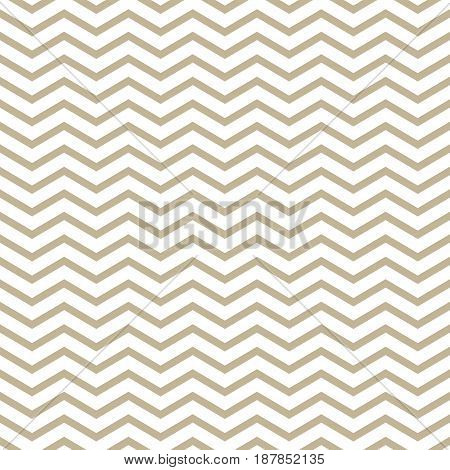 Gold Geometric Abstract Waves on White Background Seamless Pattern for Fabric and Wrapping Paper Vector Illustration