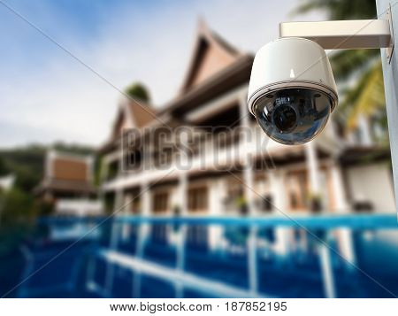 3d rendering security camera or cctv camera outdoor