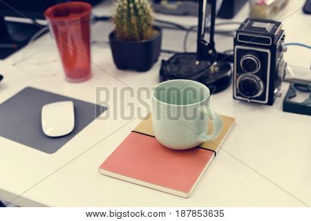 Coffee Cup on Work Table
