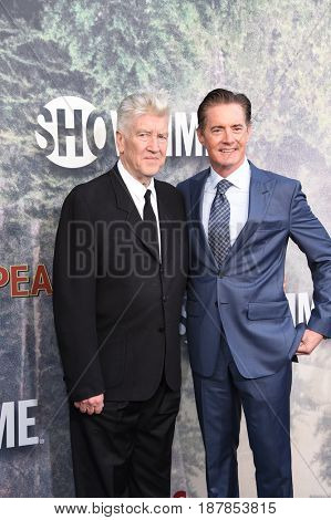LOS ANGELES - MAY 19:  David Lynch and Kyle MacLachlan arrives for the premiere of