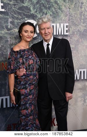 LOS ANGELES - MAY 19:  David Lynch and Emily Stofle arrives for the premiere of