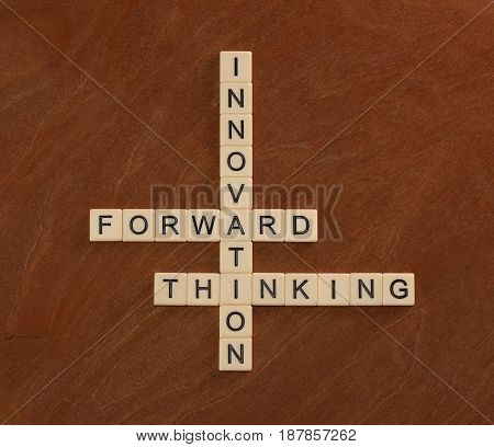 Crossword Puzzle With Words Innovation, Forward, Thinking. Innovate Concept.