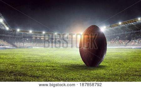 American football arena. Mixed media . Mixed media