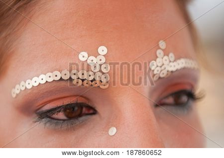 Stage Make-up, Close Up View, Color Image, Toned Image