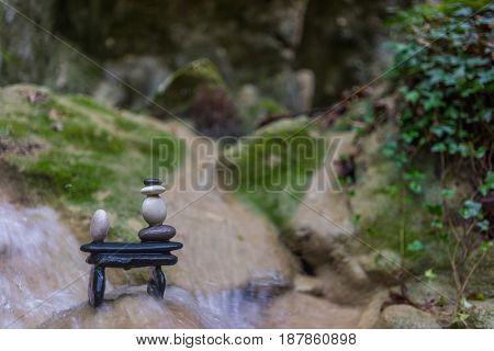 Balanced Zenstones at the waterfalls