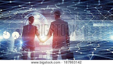 Nice to meet you partner . Mixed media