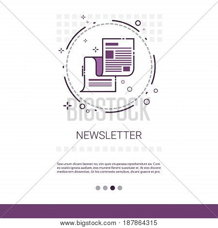 Newsletter Application Newspaper Web Banner With Copy Space Vector Illustration