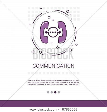 Social Network Communication Chatting Message Web Banner With Copy Space Vector Illustration