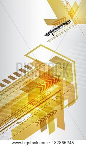 Abstract techno  design with arrows. Vector illustration.