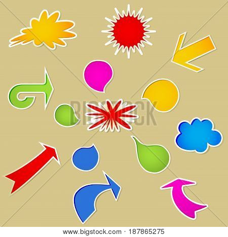 Set of  various colorful bubbles. Vector illustration.