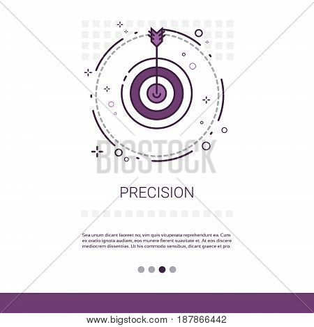 Precision Target Arrow Get Aim Business Web Banner With Copy Space Vector Illustration