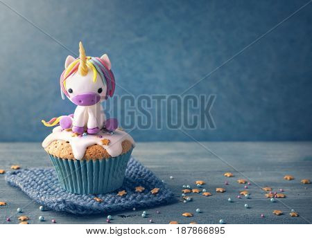 Unicorn cupcakes for a party