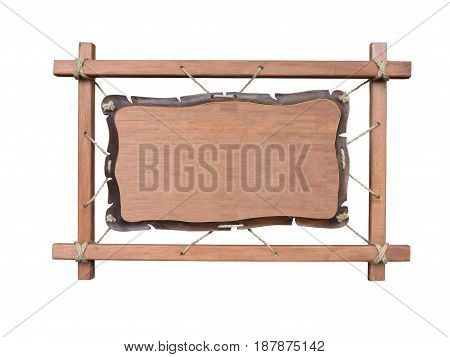 Empty place on a wooden board isolated over white background