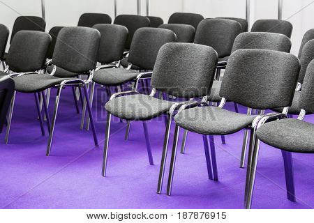 Rows of chairs for the conference and lectures