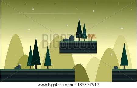 Collection stock game background style scenery vector art