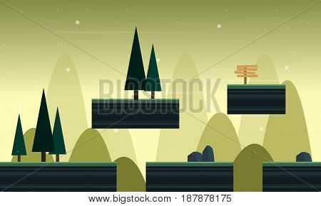 Collection stock background game in outdoor vector art