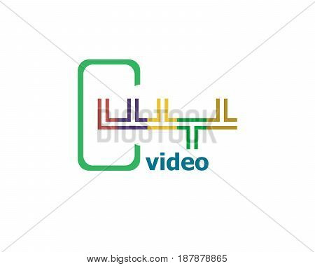 Text Video. Technology Concept. Abstract Emblem, Design Concept, Element For Template.