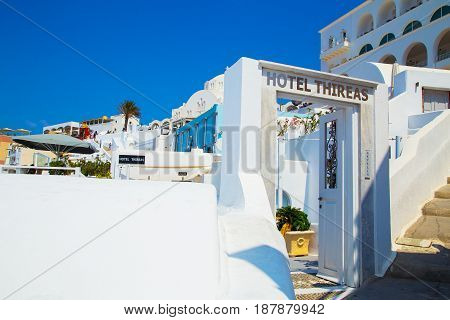 Beautiful views of santorini architecture, Greek Resort