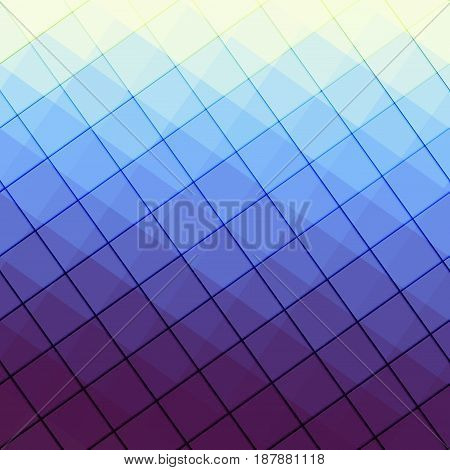 Blue abstract pattern in low poly style.