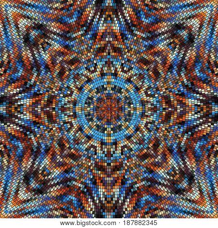 Seamless background pattern. Decorative geometric mosaic pattern.