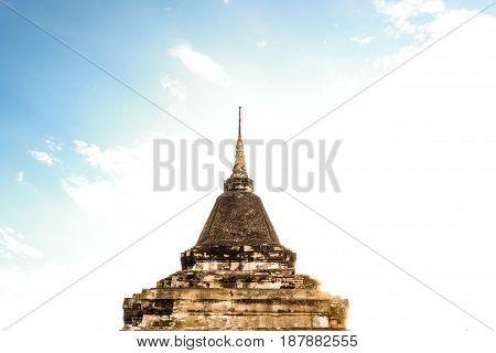 Temple most famous tourist area at  Thailand