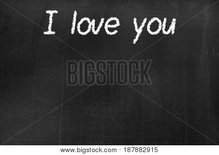 Blackboard With The Text 'i Love You'