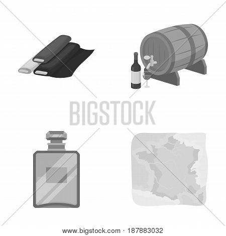 France, country, nation, national .France country set collection icons in monochrome style vector symbol stock illustration .