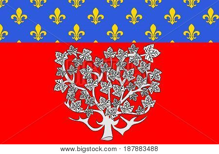Flag of Amiens it is the capital of the Somme department in Hauts-de-France and commune in northern France. Vector illustration