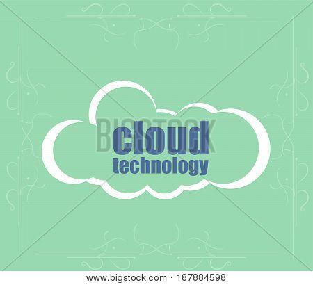 Text Cloud Technology. It Concept . Word Cloud. Successful Idea For Business