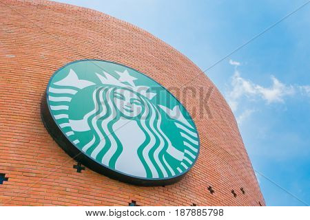 Bangkok Province, Thailand - May 09, 2016 :Starbucks Coffee. Starbucks is the largest coffeehouse company in the world, with 20,891 stores in 62 countries.