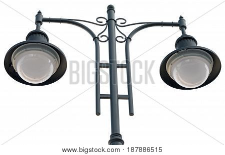 the Street lantern on a white background