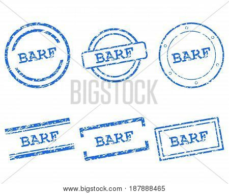 Detailed and accurate illustration of barf stamps