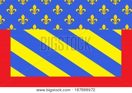 Flag of Abbeville is a commune in the Somme department and in Hauts-de-France region in northern France. Vector illustration