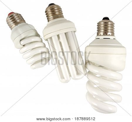 the Economy lamps isolated on white background