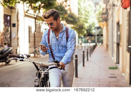 Texting And Driving Bike
