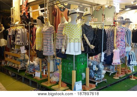 Fabric Display At Chatuchak Weekend Market