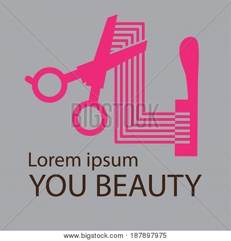 Hair Salon Logo, Cosmetic salon logo design, vector illustration.